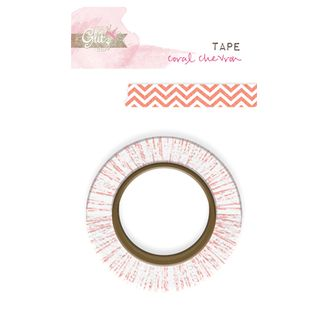WT3672-Glitz-Washi-Tape-Hello-Friend-Coral-Chevron
