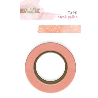 WT3689-Glitz-Washi-Tape-Hello-Friend-Coral-Polka
